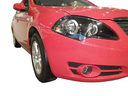shiny car: New shiny red car