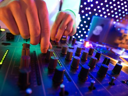 Mixer in nightclub photo
