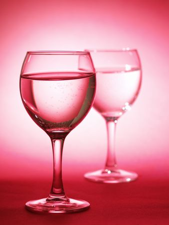 Two glass with water photo