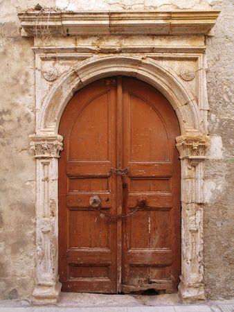 Old door in Rethymnon town in Crete island Stock Photo - 8250099