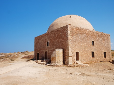 fortezza: New restore church in castle Fortezza in Crete island