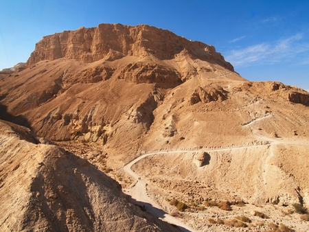 Mountain with Massada fortress in Israel