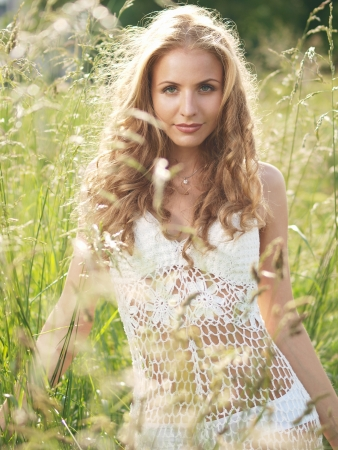 Girl in grass Stock Photo - 15615966