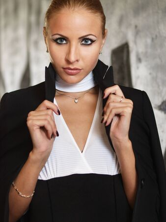 Girl in a jacket Stock Photo - 15832203