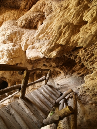 Ladder in cave