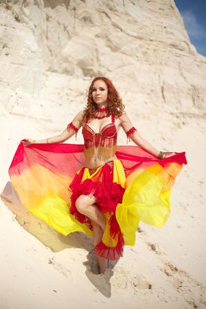 Bellydance in red dress photo