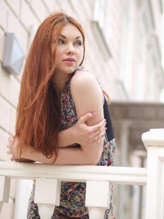 Girl at home photo
