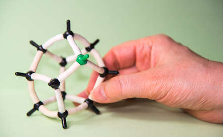 chemical structure: hand modeling chemical structure 3d