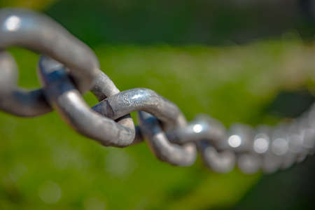 rusty chain: Macro shot of  anchor chain in Germany