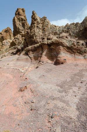 formation rocheuse dans le paysage de montagne parc national du teide, tenerife Banque d'images