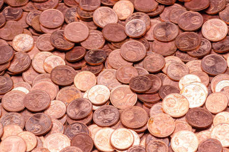 heap of cent coins