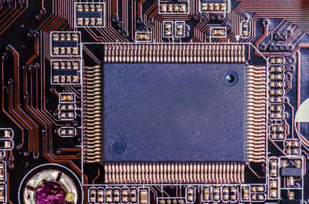 large computer processor on a circuit board 版權商用圖片