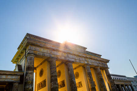 brandenburger tor in berlin, germany in the sunlight