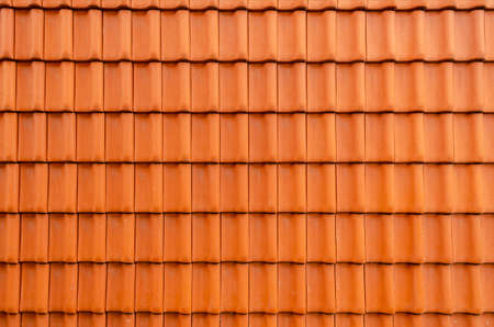 roof texture built from red roof tiles
