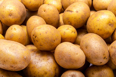 heap of potatoes, for background or texture Banco de Imagens