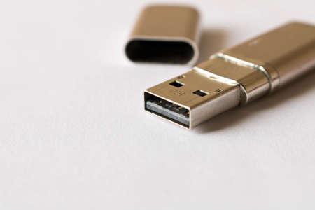 USB flash drive.  Isolated on white background.