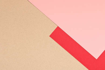 Gray pink and red background texture of colored paper. Trendy colors for design. Abstract geometric background.