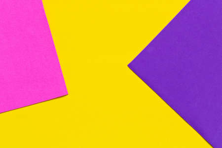 Color Trends background. Pink yellow purple abstract geometric background