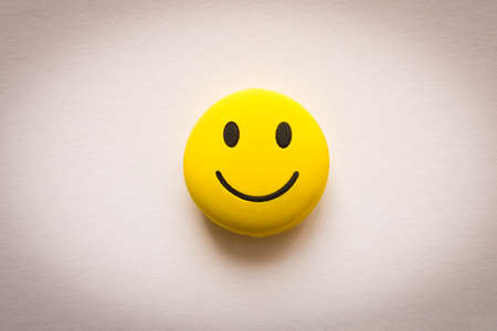 Funny smiley face on white background. Positive mood