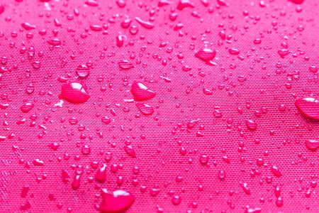 Water drops on waterproof fabric . Selective focus Stok Fotoğraf