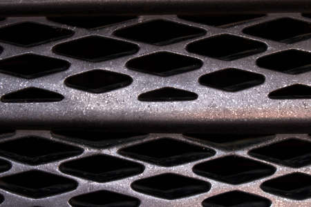 Background texture of the grille of the car Banque d'images