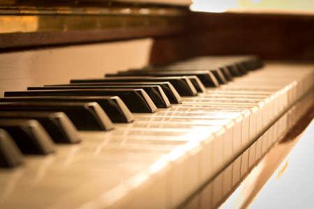 Piano keys. Piano keys background. Selective focus Stockfoto - 130356665