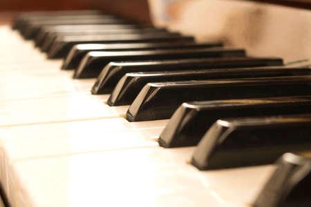 Piano keys. Piano keys background. Selective focus Stockfoto - 130356666