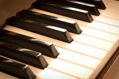Piano keys. Piano keys background. Selective focus Stock Photo