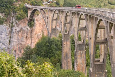 Bridge in the mountains in Montenegro. Mountain bridge Stock fotó