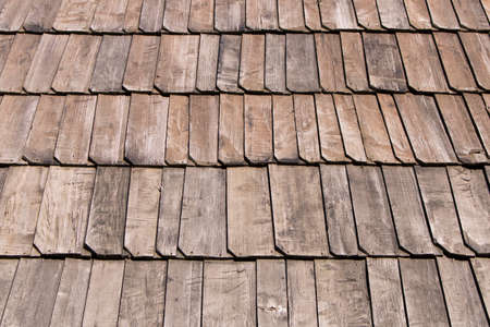 Background texture of wooden roof. Selective focus. Stock fotó - 134771488