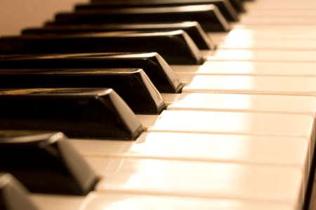 Piano keys. Piano keys background. Selective focus