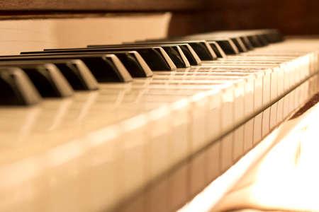 Piano keys. Piano keys background. Selective focus.