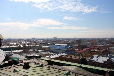 gaol: Panorama of St.-Petersburg from height of 45 meters Stock Photo