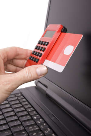 realization of payment through a TAN Generator Stock Photo - 12375133