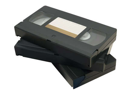 video cassette tape: Illustration of VHS tape isolated on a white background