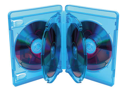 blu: Illustration of opened Blu Ray disc box with discs