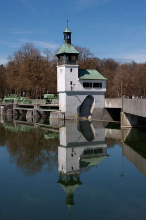 Dam on the lake in Augsburg photo