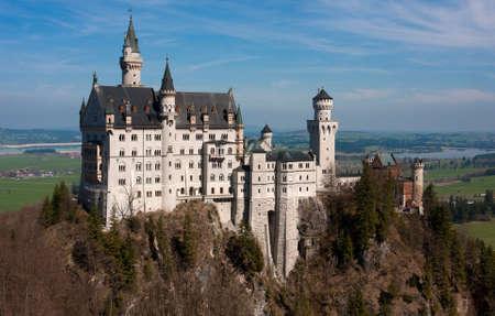 neuschwanstein: view of the Neuschwanstein castle from bridge Editorial