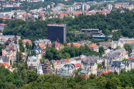 karlovy: Panorama of the city. Karlovy Vary, Czech Republic