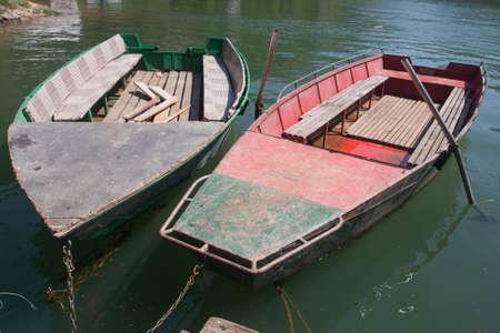 rowboats: Old Rowboats At The River