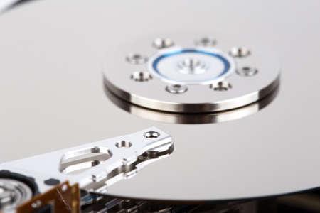 megabyte: inside of hard drive close-up