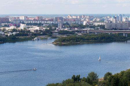 nizhni novgorod: residential district at Nizhny Novgorod at summer, August 08, 2015 in Nizhny Novgorod, Russia