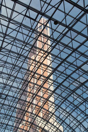 afimall: Transparent roof of shopping center AfiMall City, August 13, 2015 in Moscow, Russia Editorial