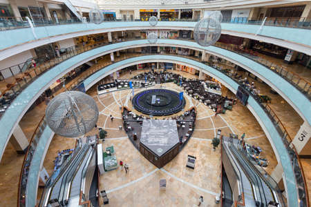 afimall: Shopping center AfiMall City August 13, 2015 in Moscow, Russia