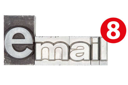 adress: lead type letters form the word email