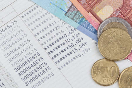 passbook: saving bank passbook Financial Planning Stock Photo