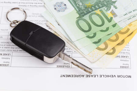 commercial law: Lease motor vehicle Document Agreement with car key
