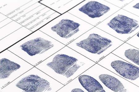 指紋カード 写真素材