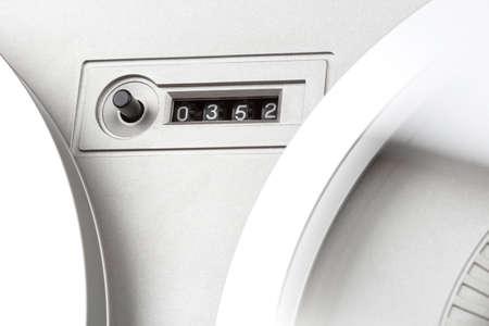 grabadora: cinta contador mec�nico de la grabadora de carrete est�reo