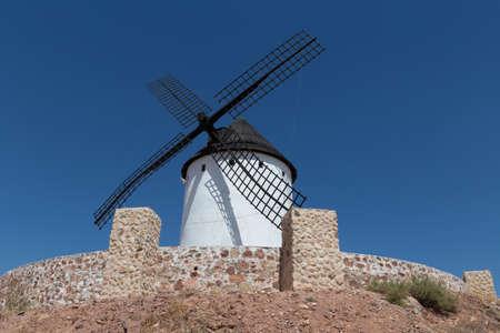 Windmill near Alcazar de San Juan, Castile region, Spain,